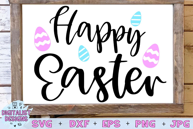 happy easter svg, easter egg svg, easter decor svg example image 1