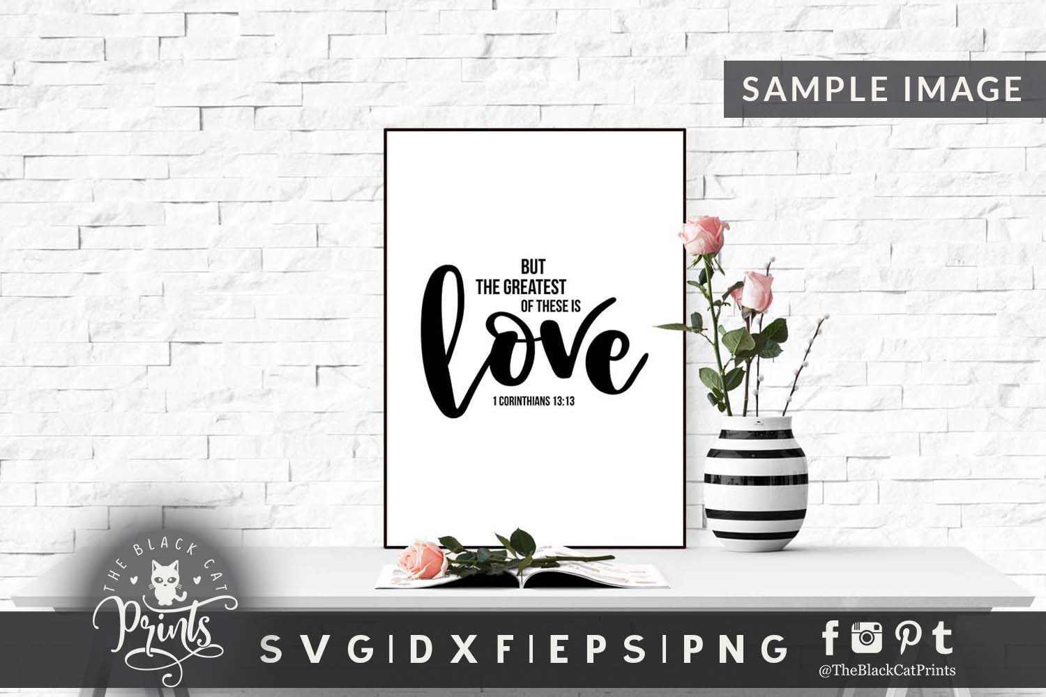 The Greatest of these is Love SVG DXF PNG EPS JPG example image 3