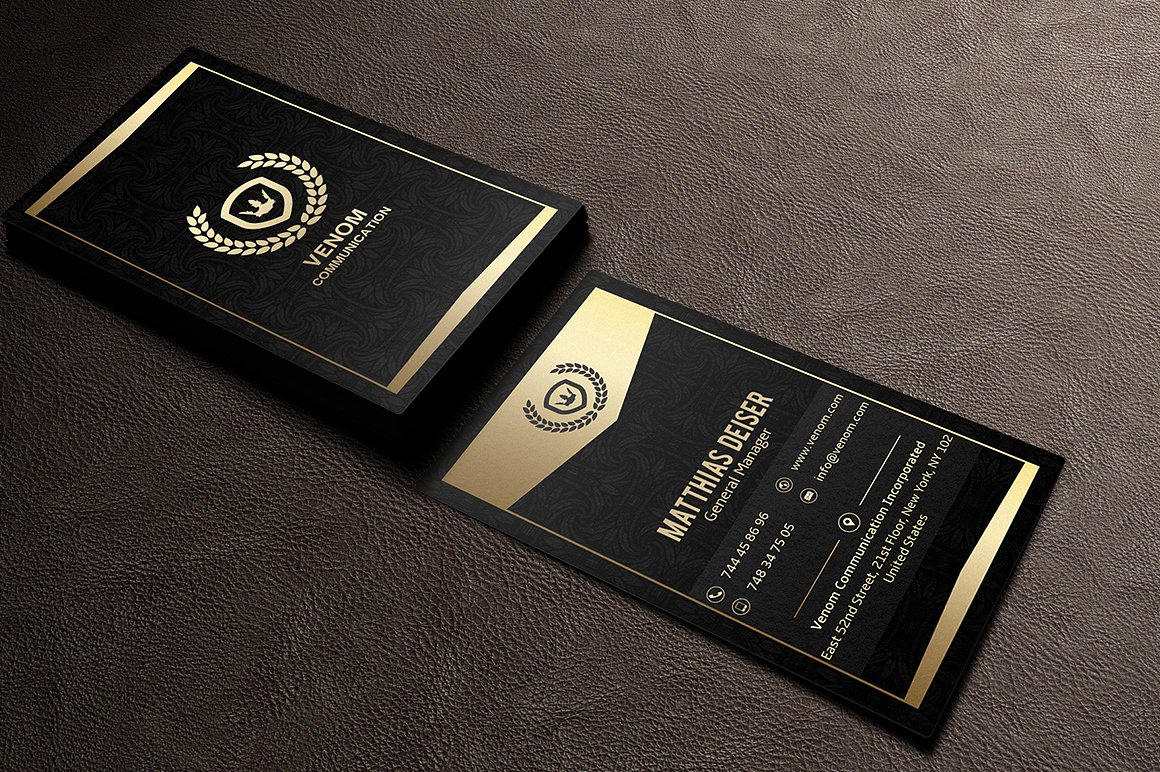 Gold And Black Business Card example image 2