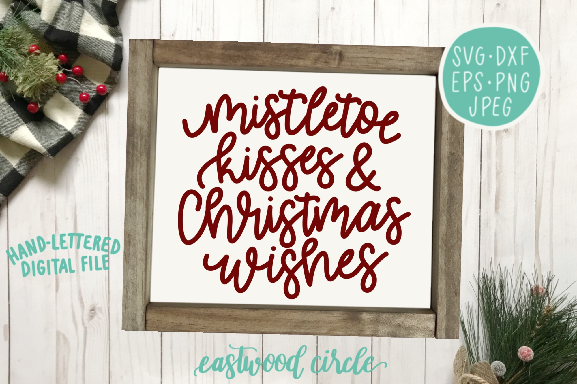 Christmas SVG Bundle - Hand Lettered SVG Files for Signs example image 5