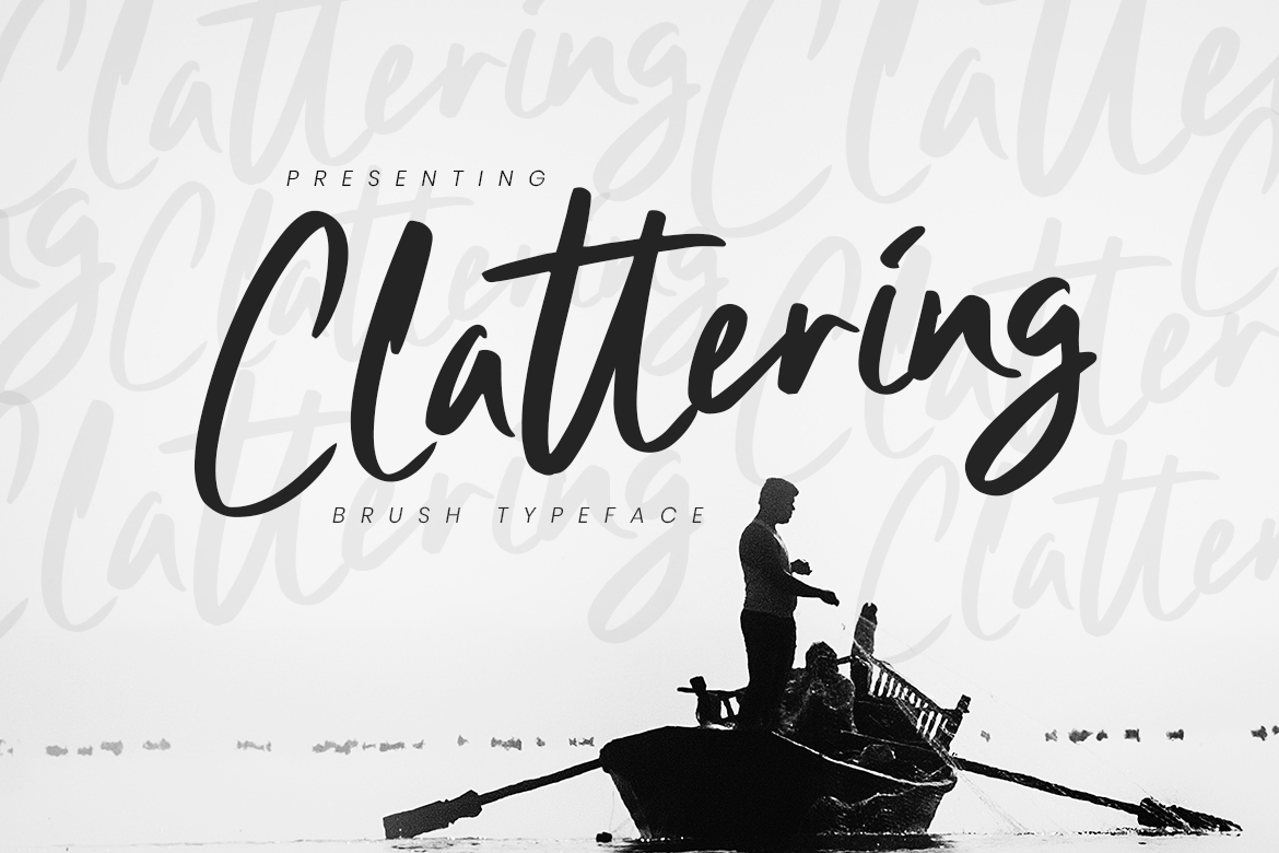 Clattering Brush Typeface example image 1