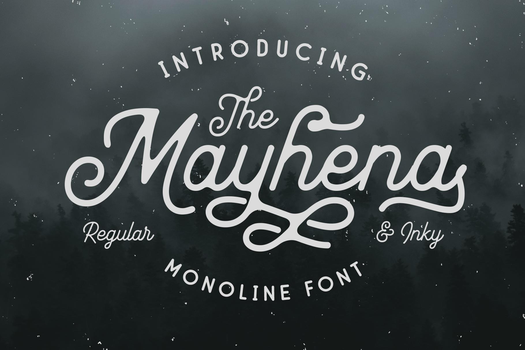 Mayhena Monoline Font example image 1