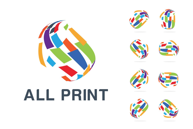 Global Printing company Logo example image 1