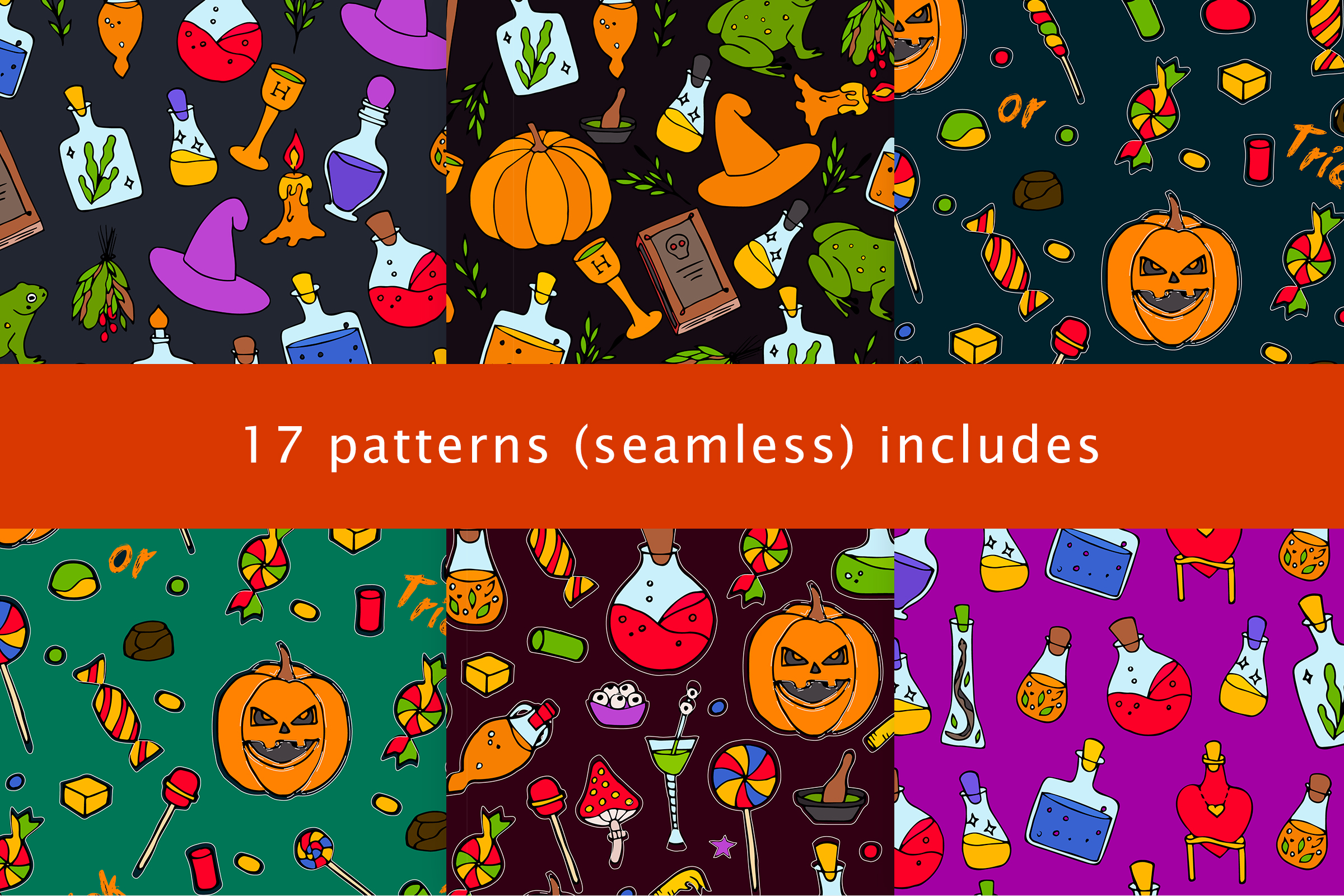 Halloween collection. Patterns, Elements, Posters example image 4
