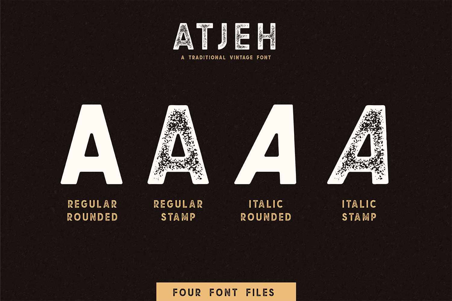 Atjeh - A Traditional Vintage Font | 4 Font Files example image 3