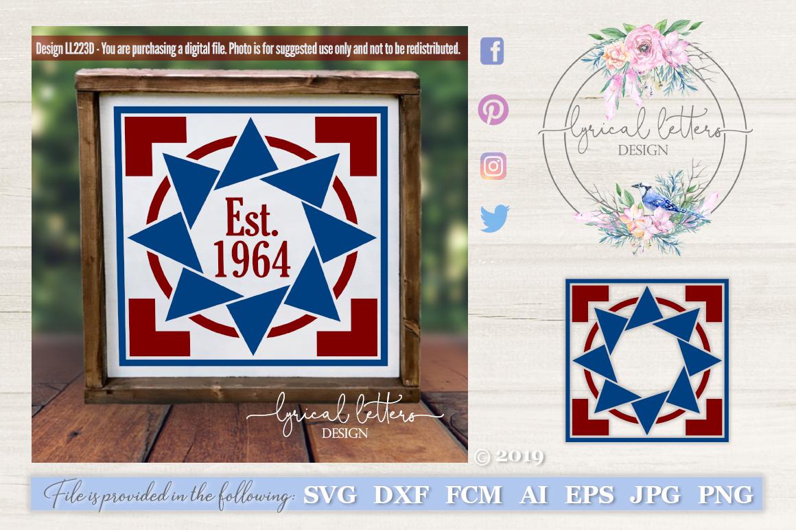 Barn Quilt Pattern Design 4 SVG DXF FCM LL223D example image 1