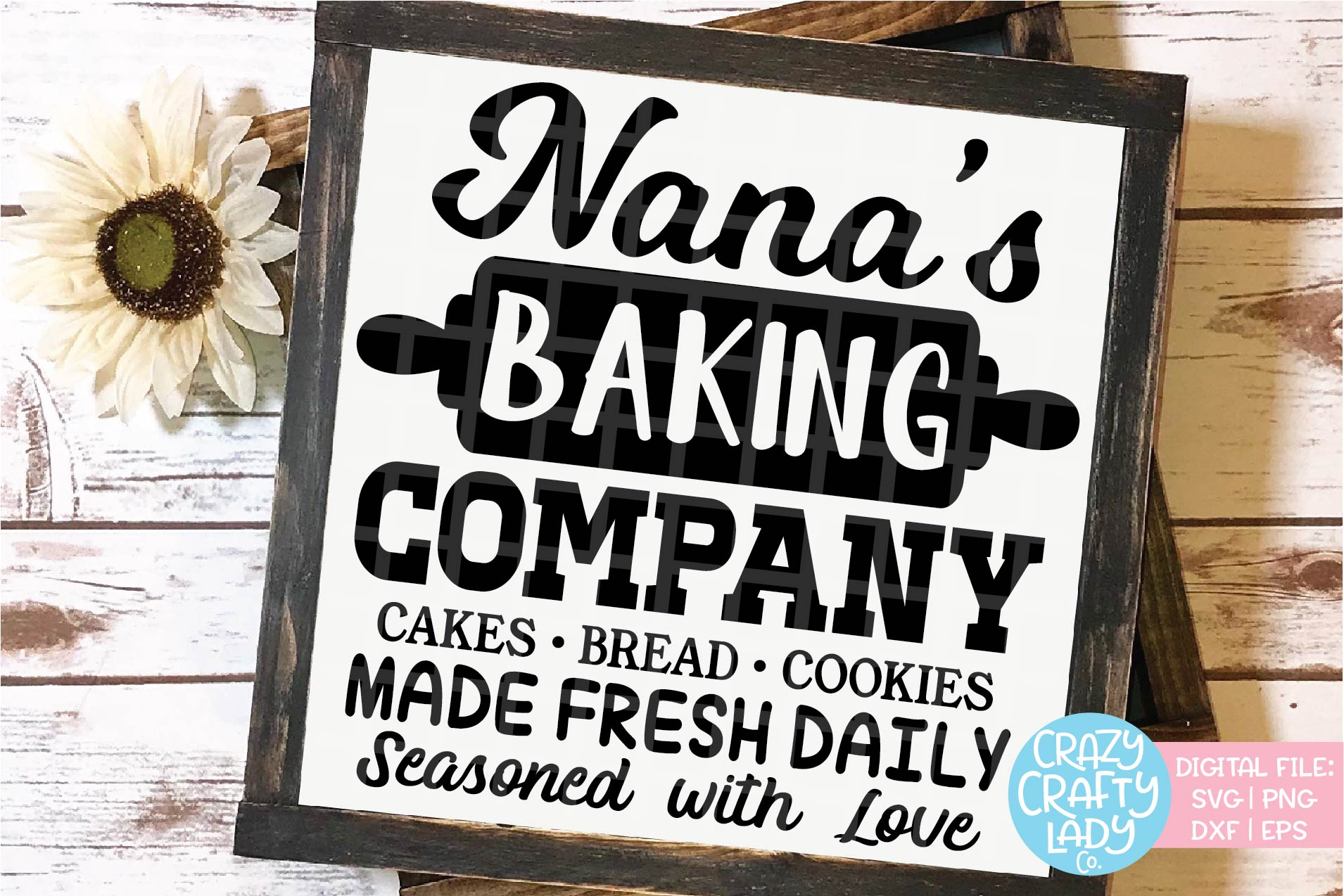 Nana's Baking Company SVG DXF EPS PNG Cut File example image 1