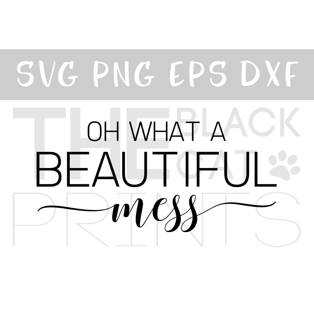 Oh what a beautiful mess SVG PNG EPS DXF example image 1