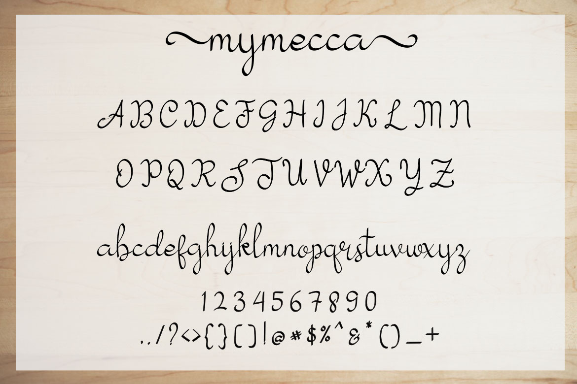 My Mecca   Modern Calligraphy example image 9
