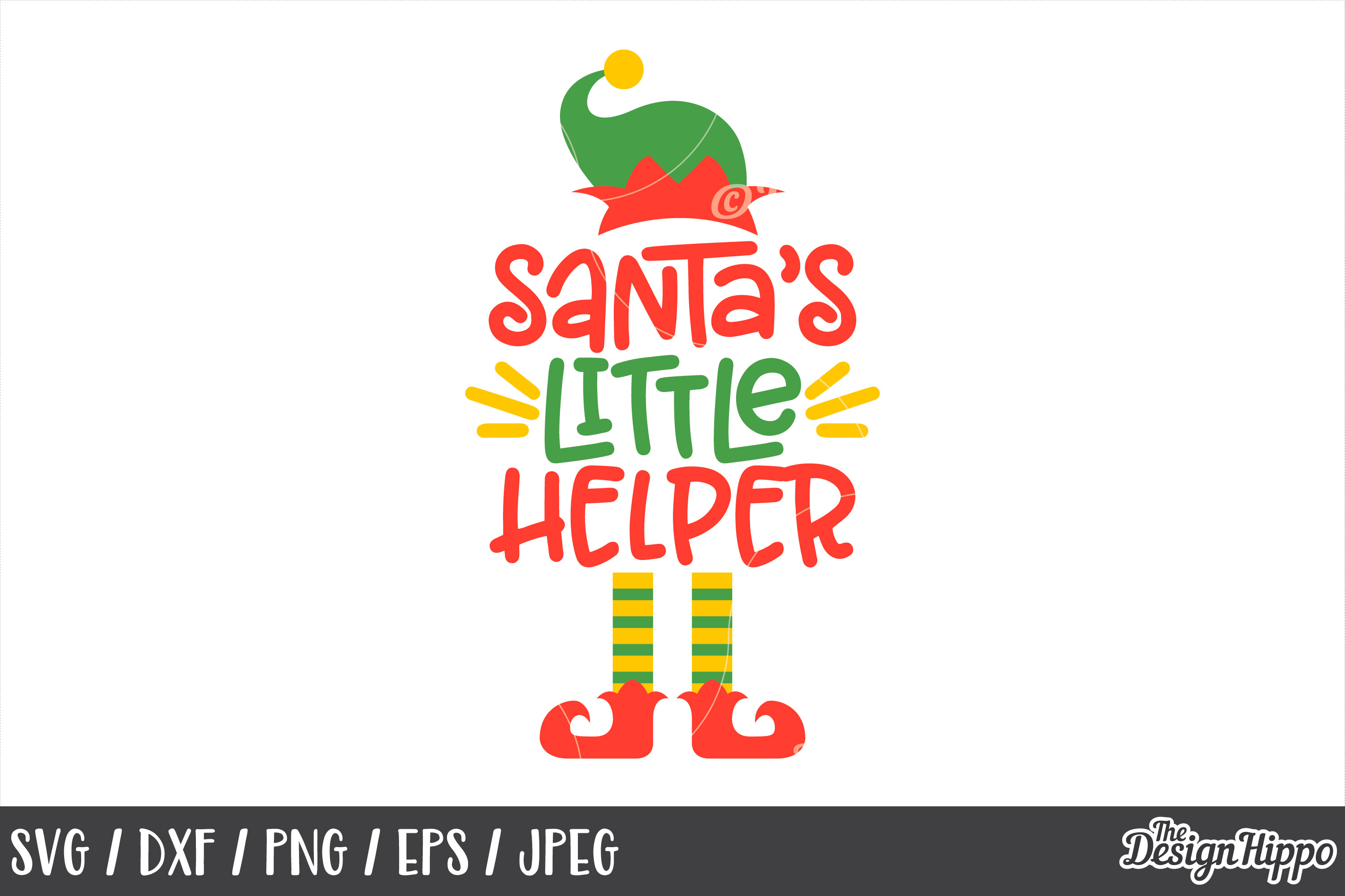 Christmas Santa S Little Helper Svg Dxf Png Cut Files