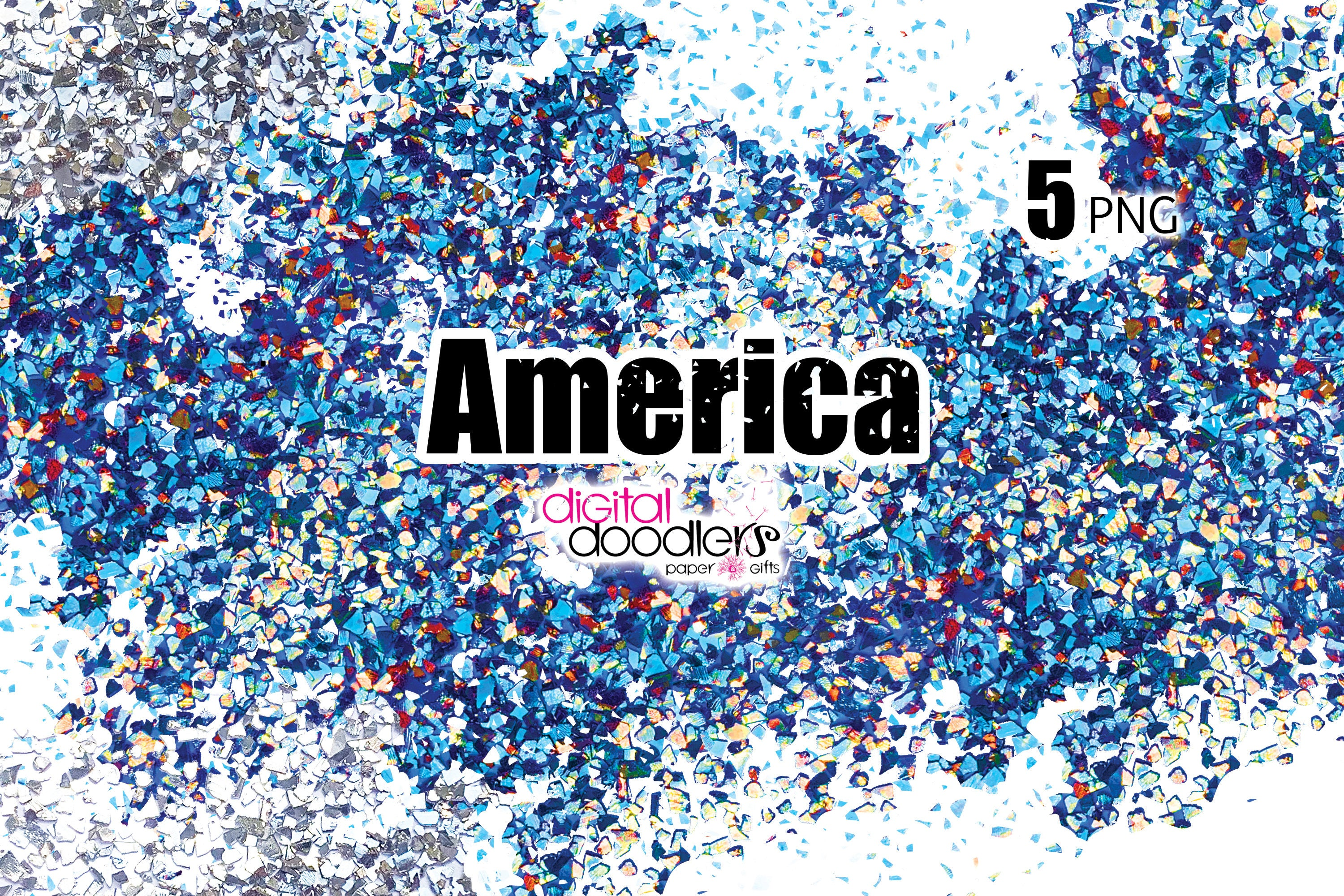 America - Red, White & Blue Confetti Swatches example image 2
