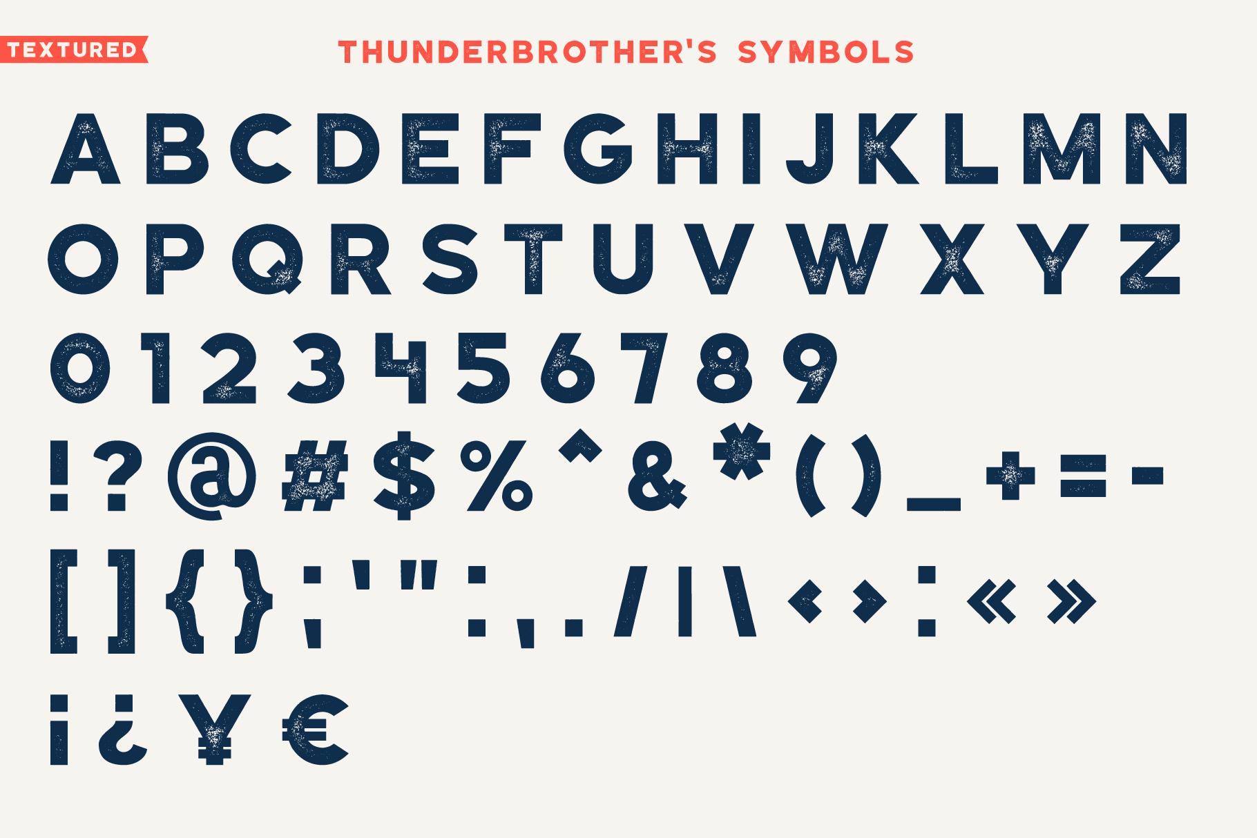 Thunderbrother - Bold Sans-serif Font example image 6