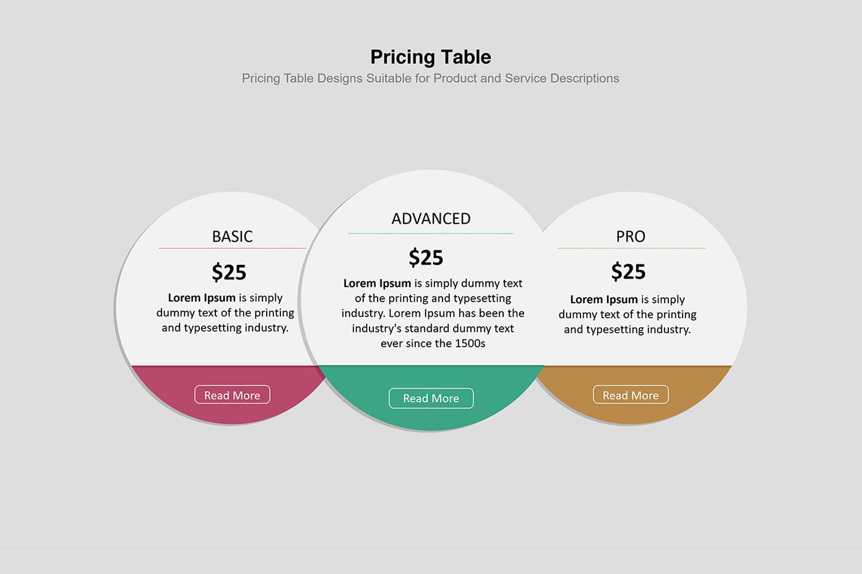 Price Table Infographic Presentation