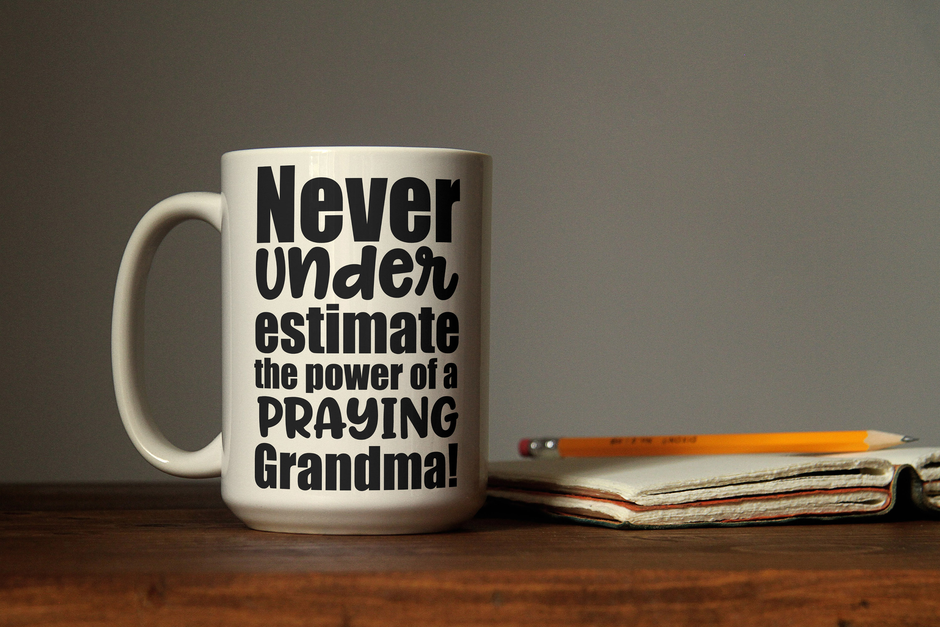 Never underestimate the power of a praying grandma svg example image 3