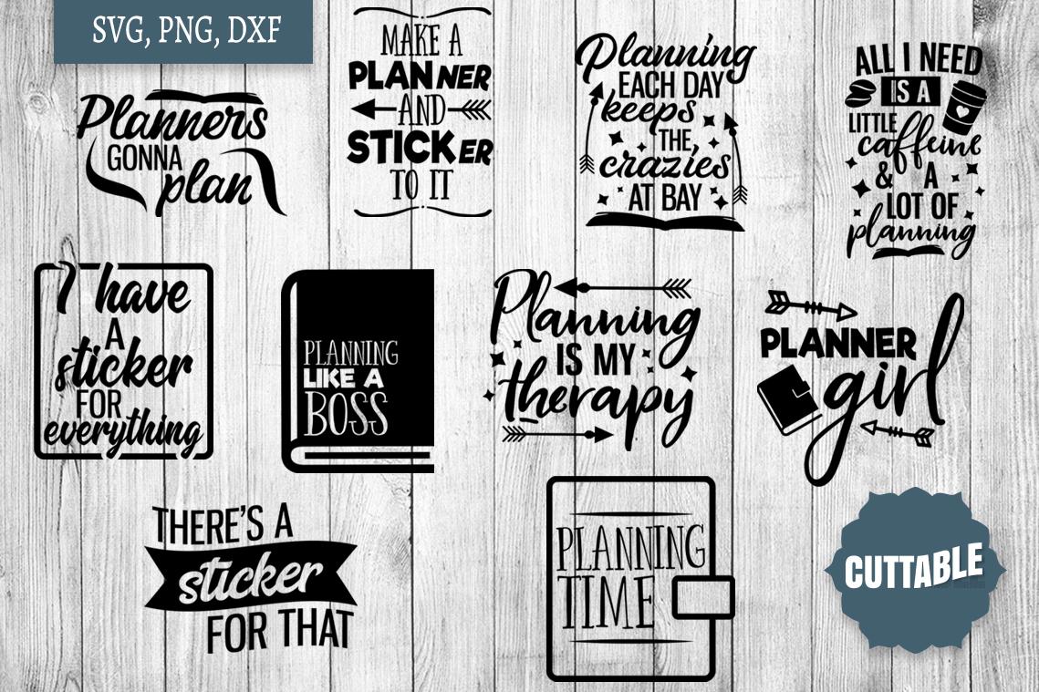 Planner SVG bundle, Planner love cut files, planner girl svg example image 1