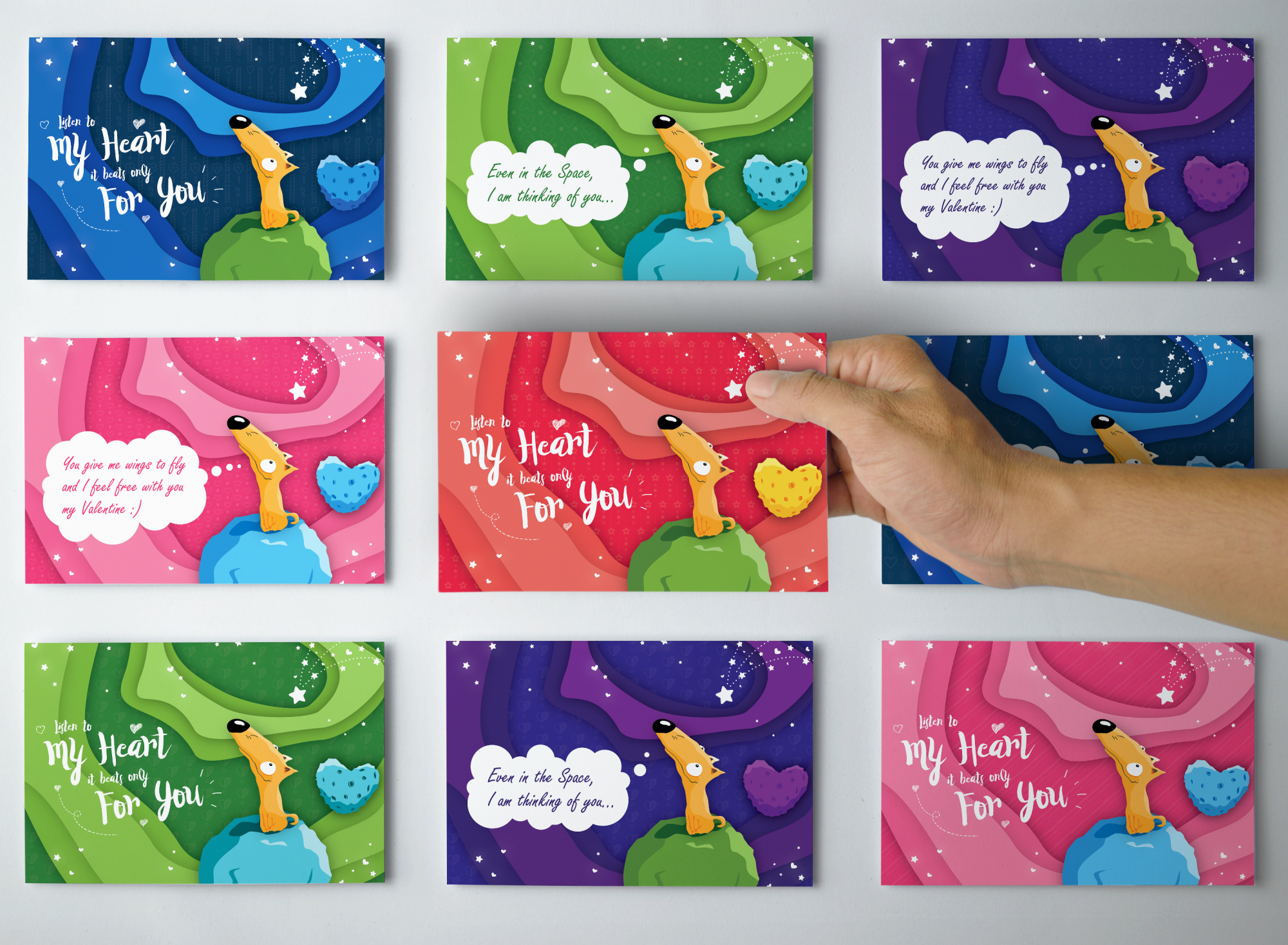 Dreaming Valentine greeting cards example image 4