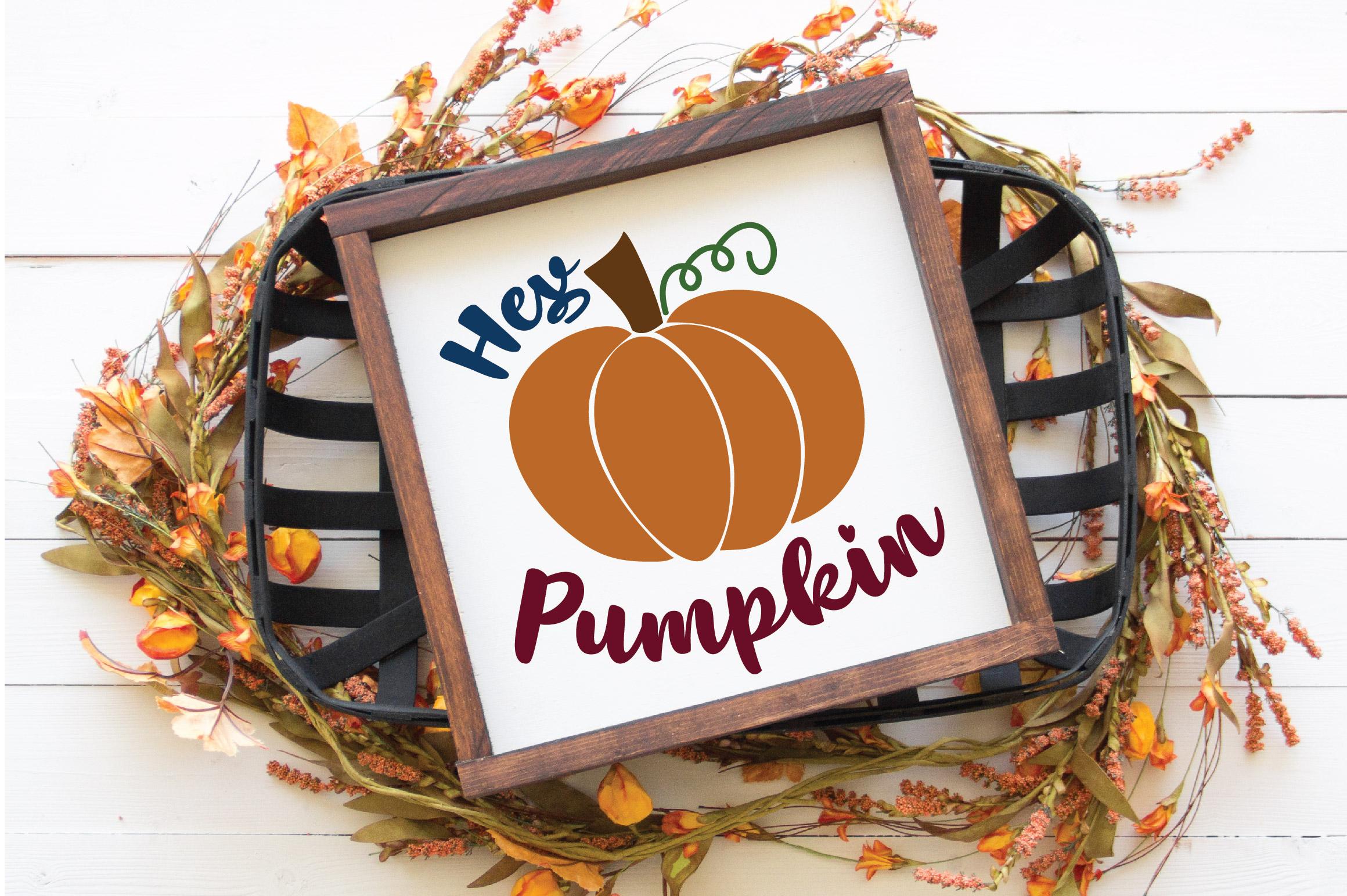 Hey Pumpkin SVG Cut File - Fall Pumpkin SVG example image 2
