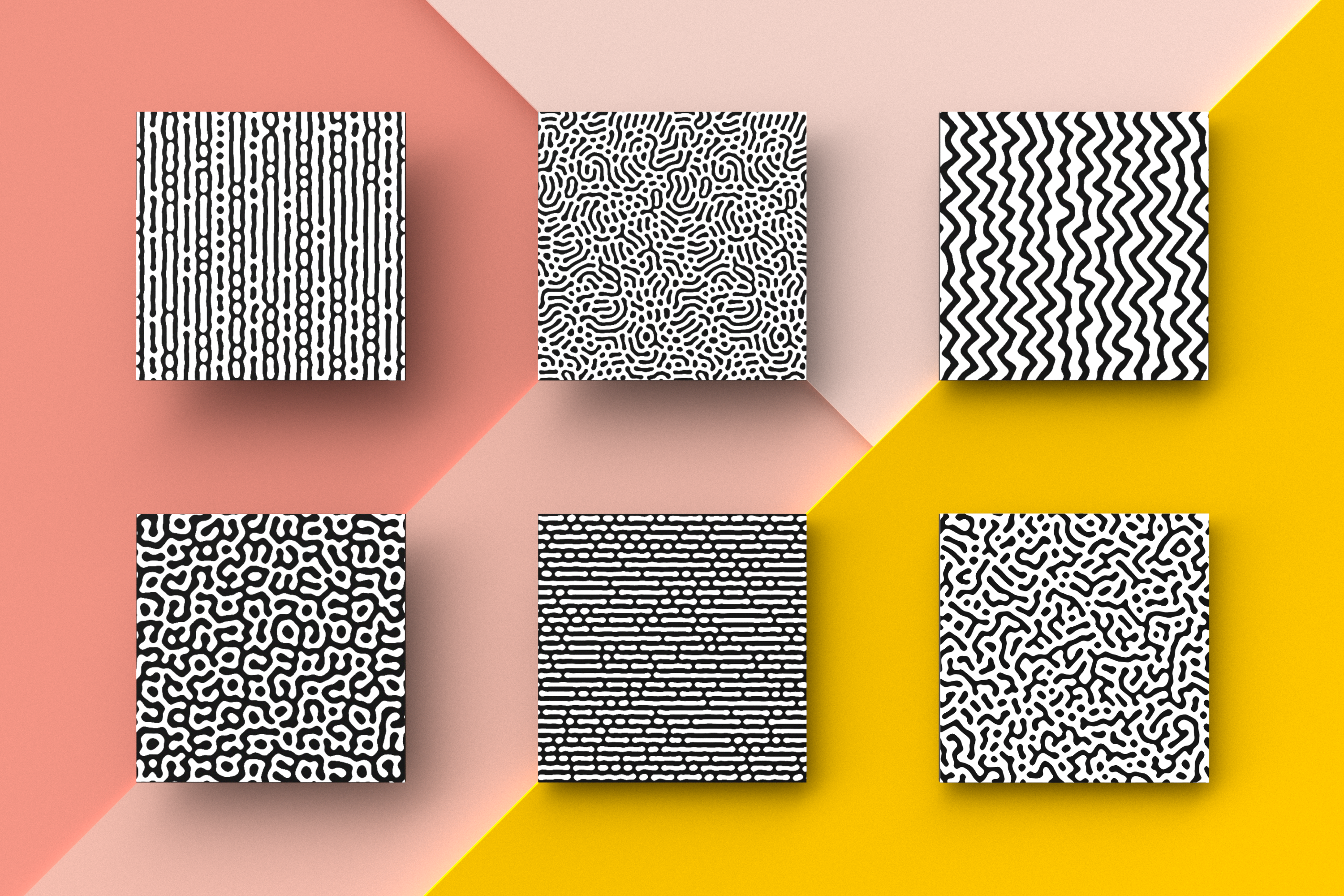 Organic Patterns - 50 trendy seamless textures example image 9