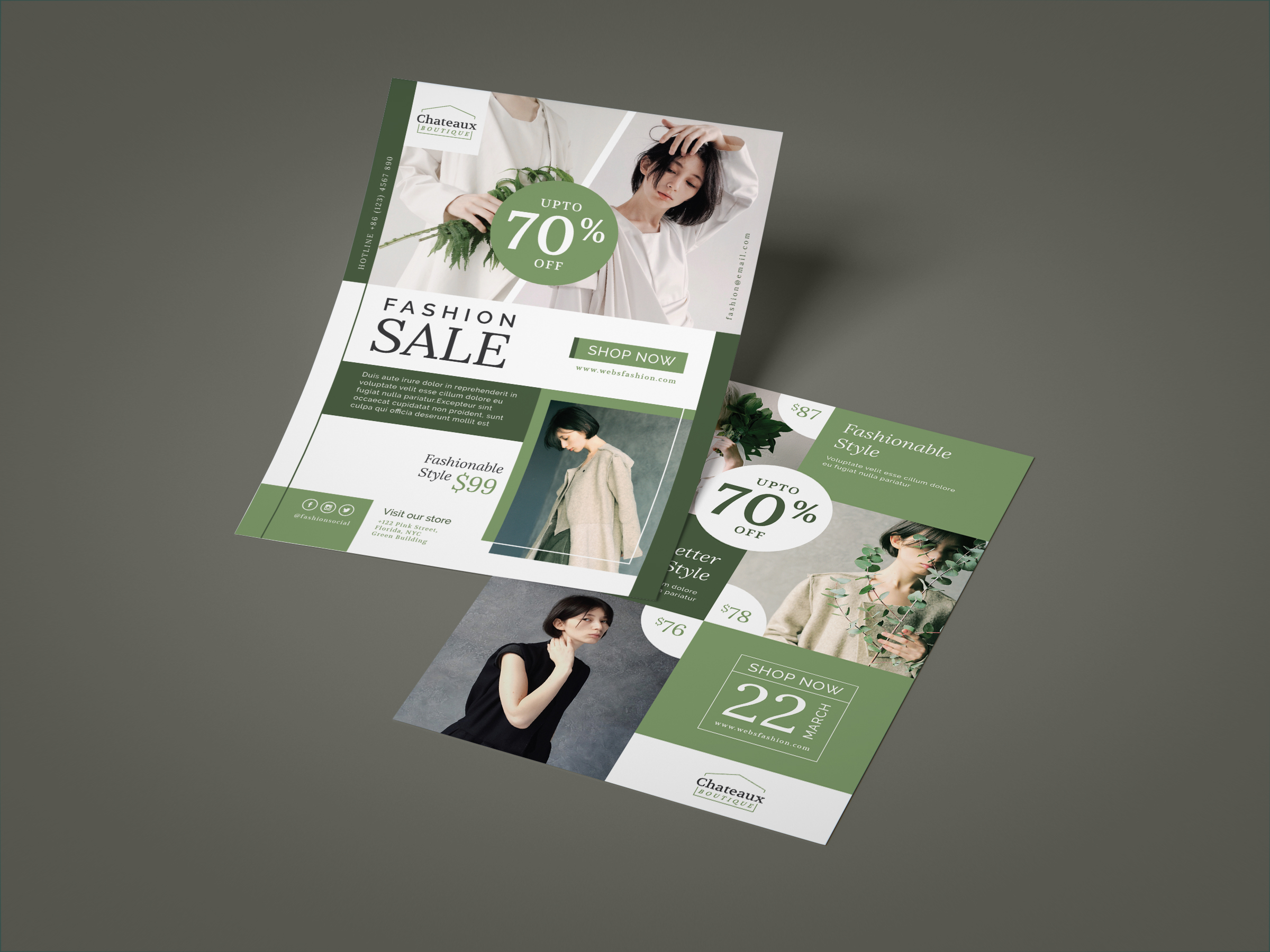 Fashion flyer template example image 3