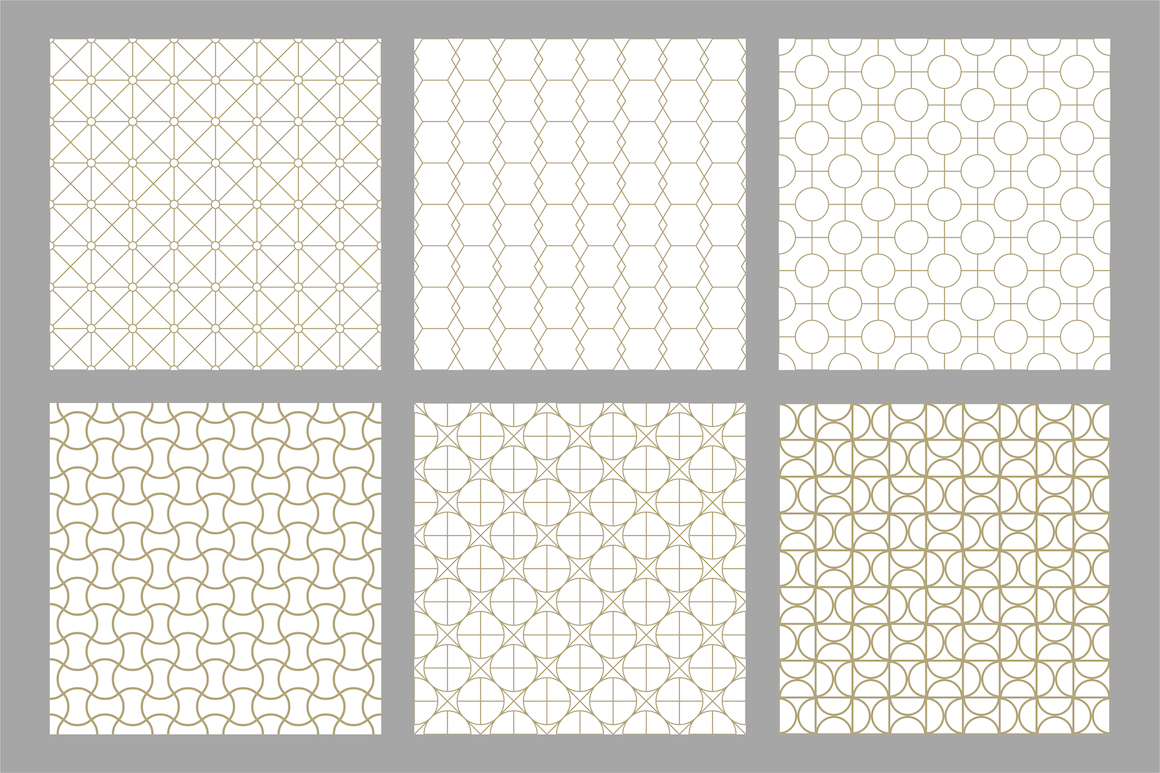 Set of ornamental seamless patterns example image 8
