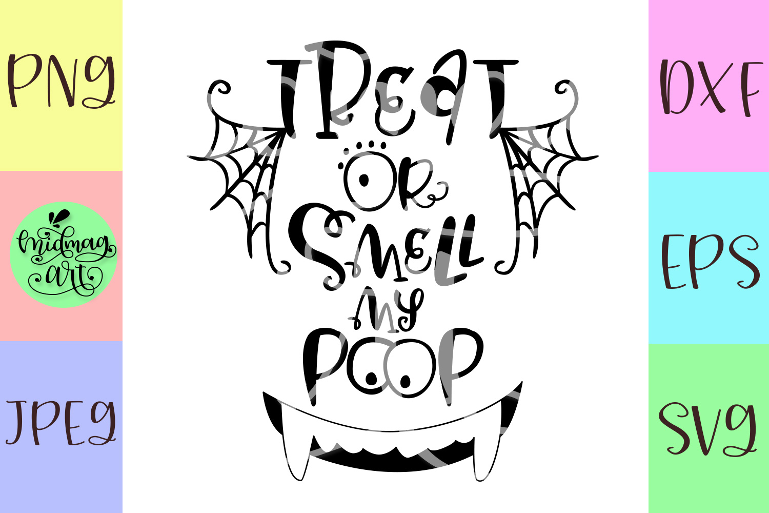 Treat or smell my poop svg, halloween baby svg example image 2