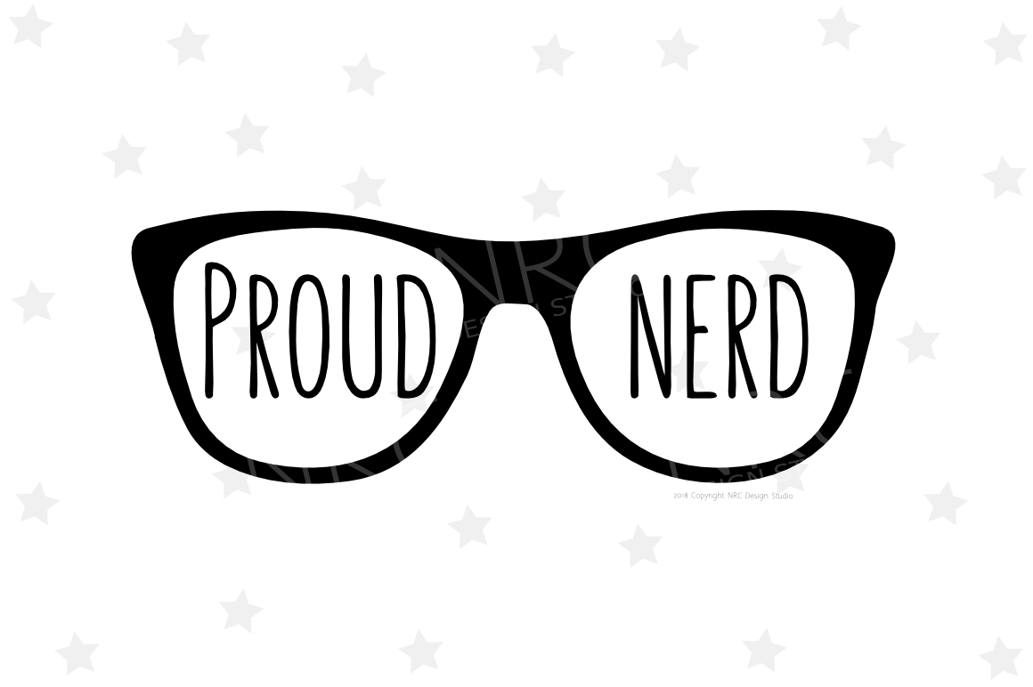 Proud Nerd SVG File example image 1