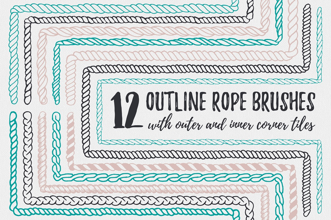 22 Vector Rope Brushes example image 3