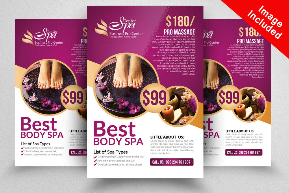 Beauty & Spa Flyer Print Templates example image 2