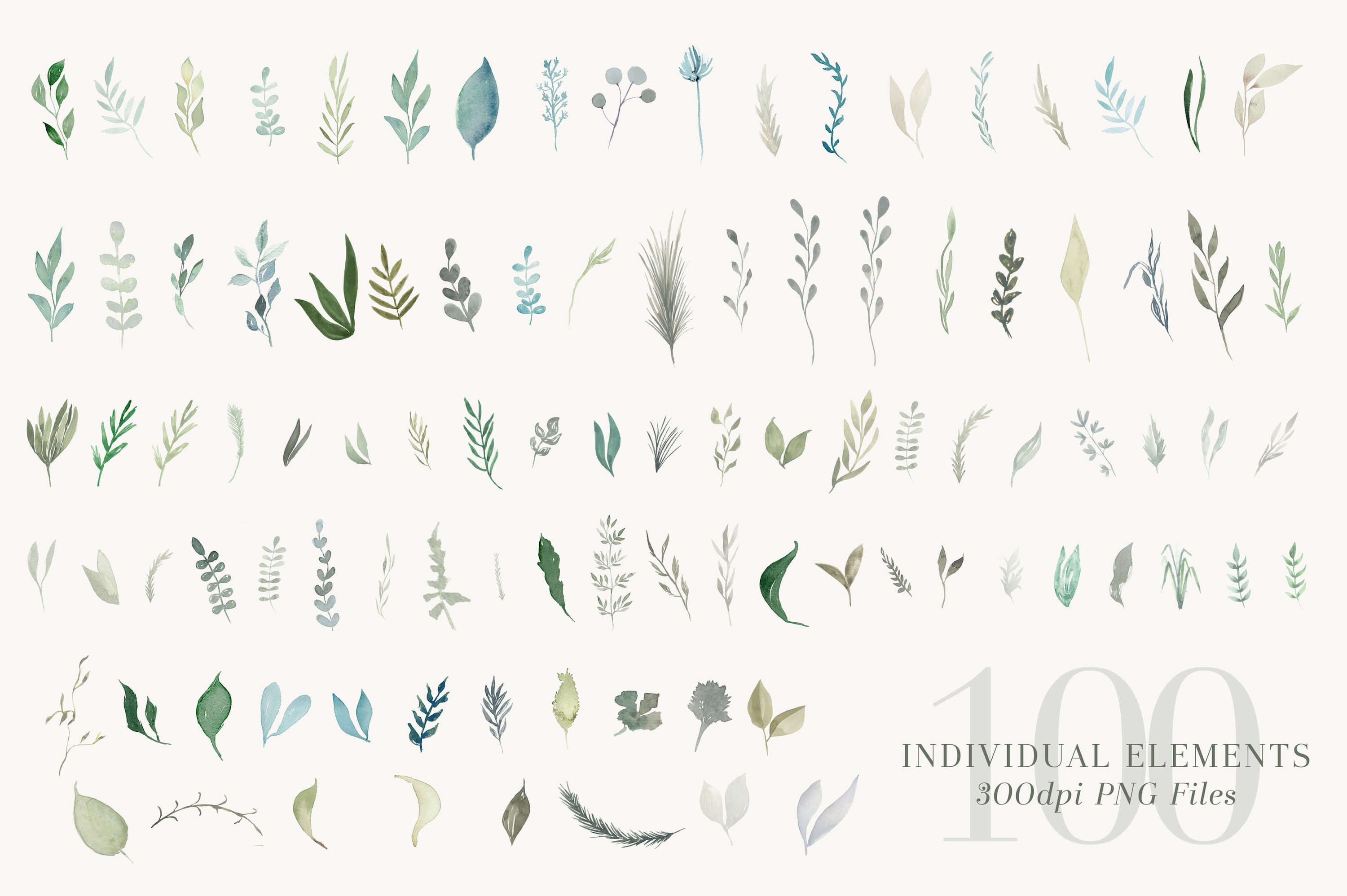 Foliage and Foil Botanical Clipart example image 2
