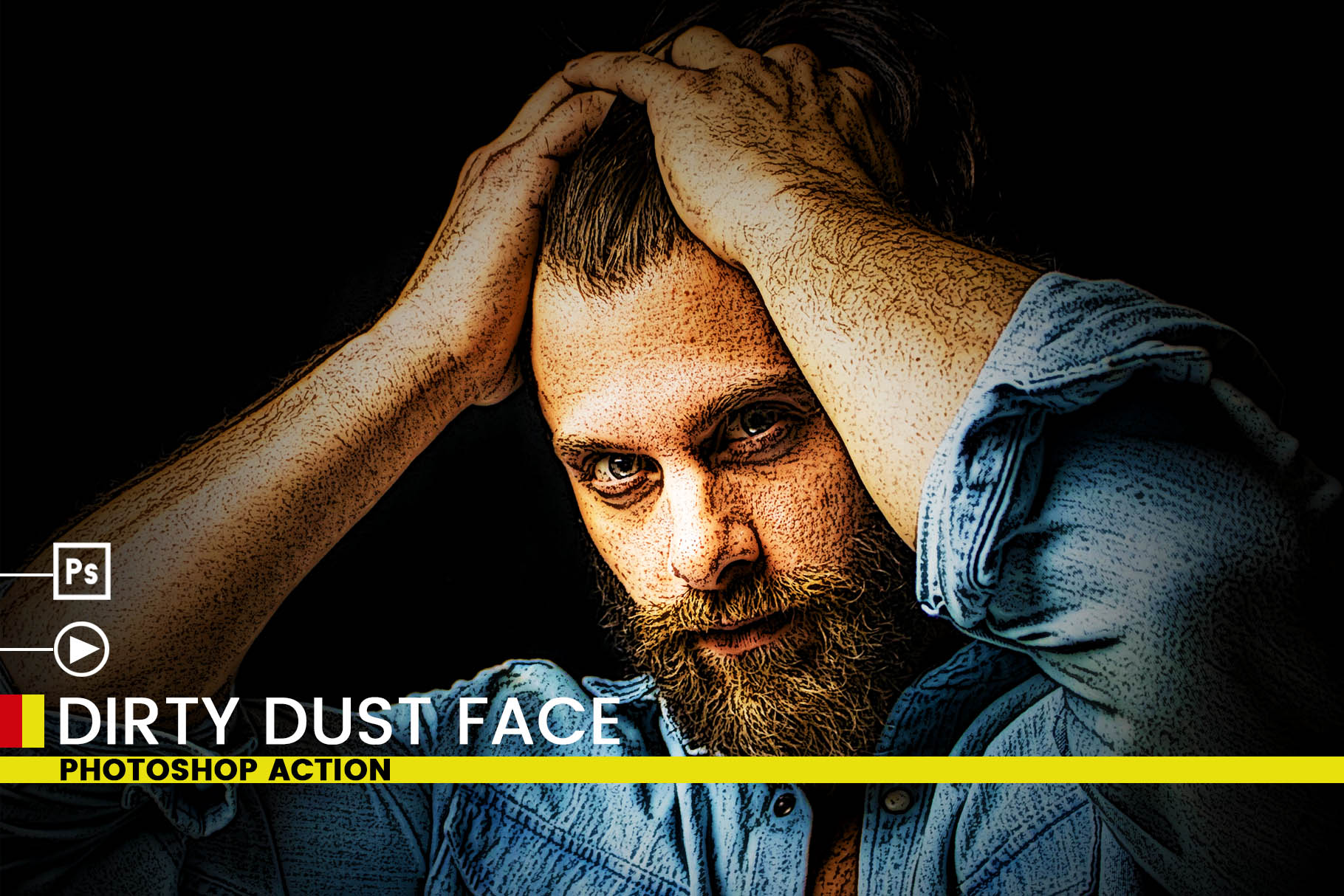 Dirty Dust Face Photoshop Actions example image 4