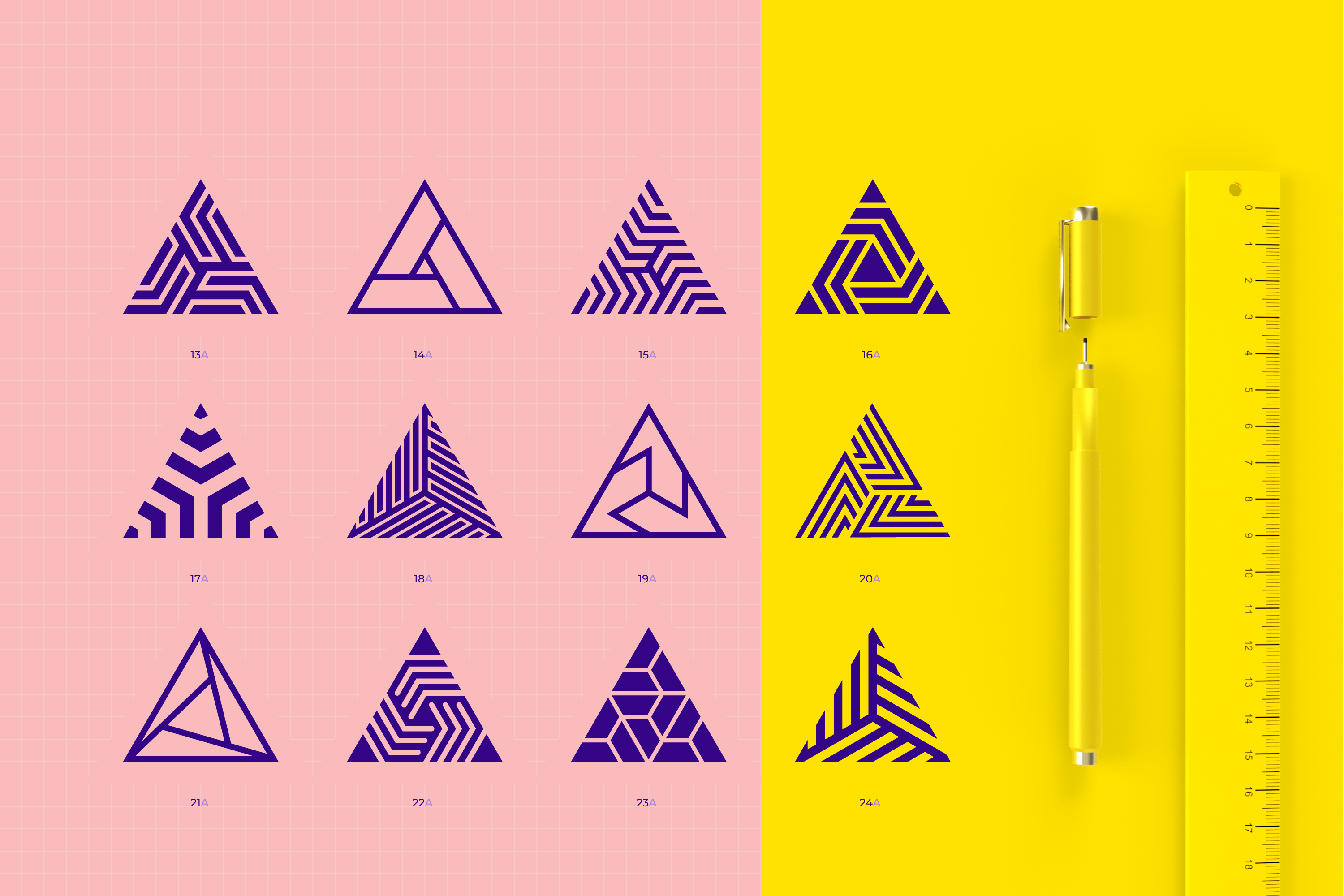96 Geometric shapes & logo marks collection VOL.1 example image 5