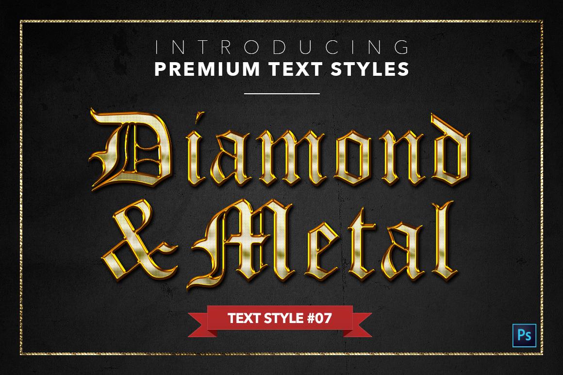 Diamond & Metal #1 - 15 Text Styles example image 8