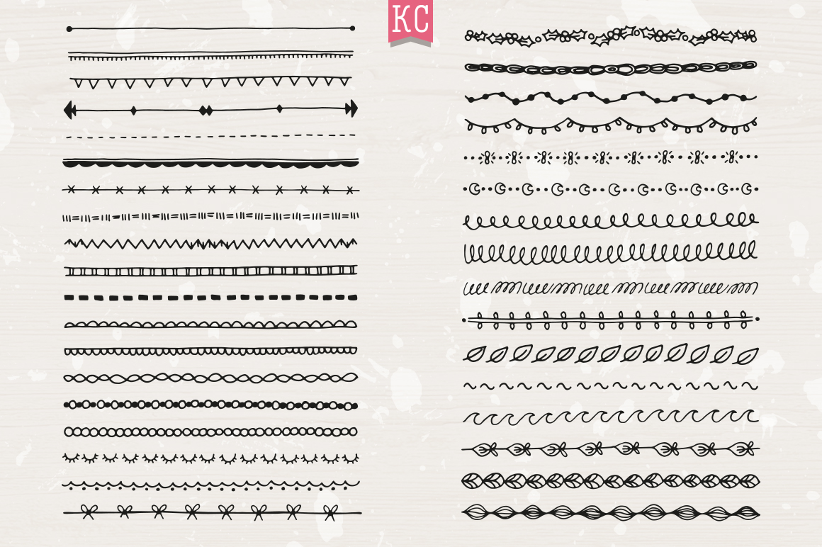 Hand Drawn Doodle Dividers example image 4
