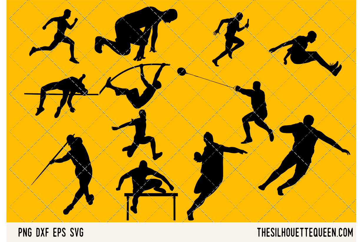 Track and Field Men SVG example image 1