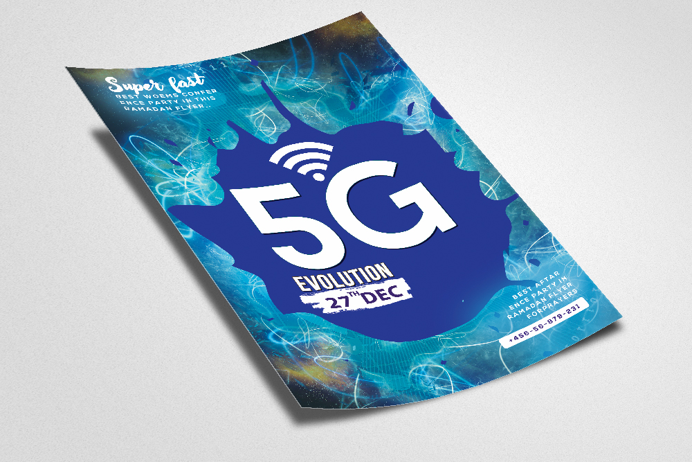 5G Is Coming Flyer Template example image 2