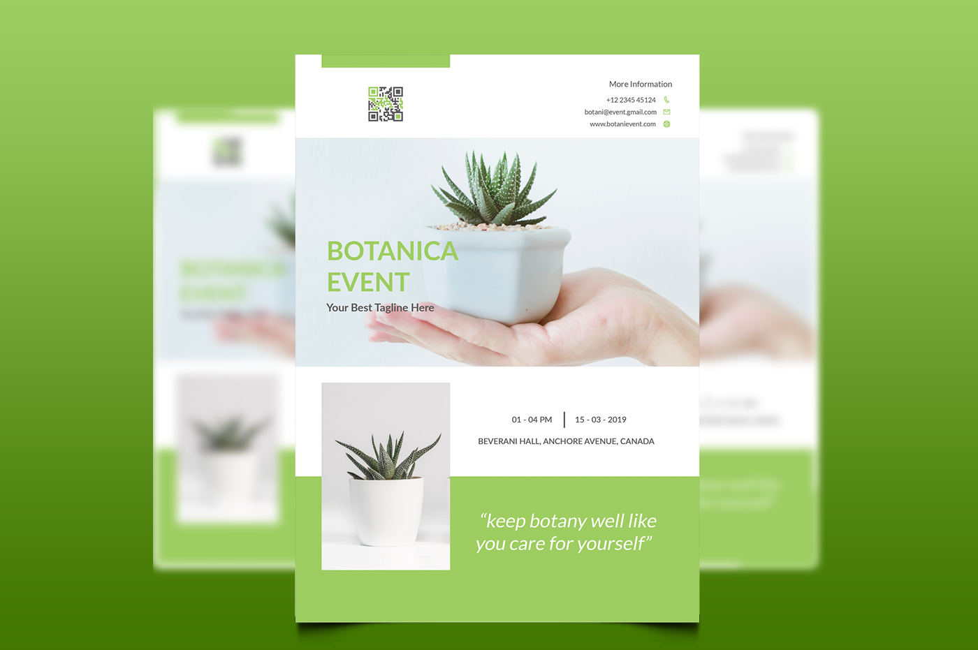 Botani Event Flyer & Poster example image 3
