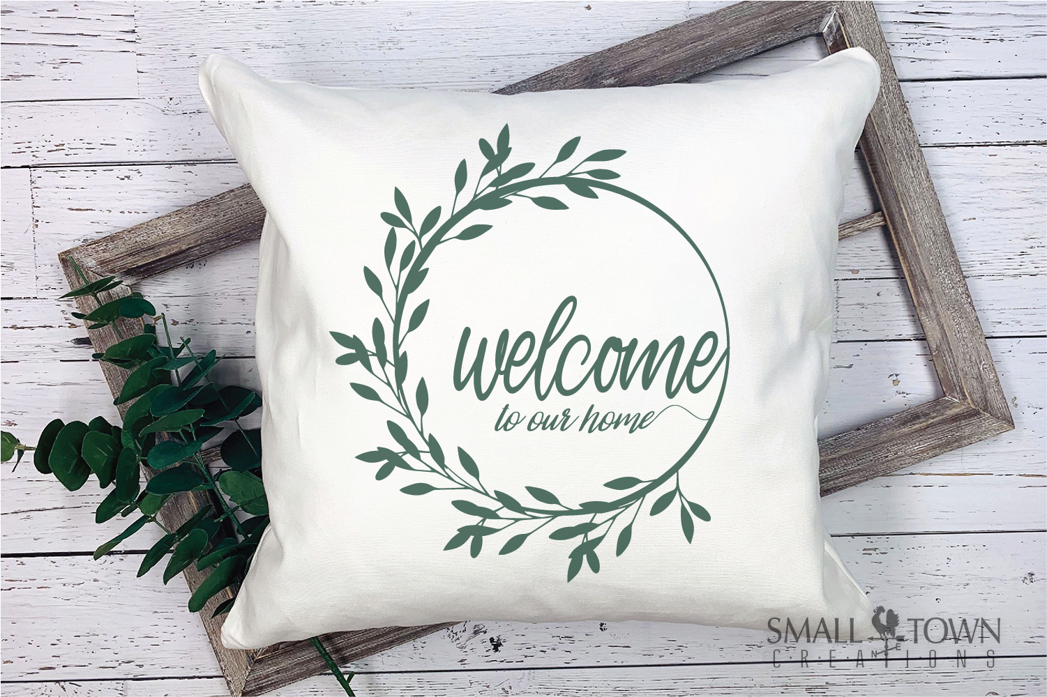 Home, Welcome, Blessed, Wreath, PRINT, CUT & DESIGN example image 5