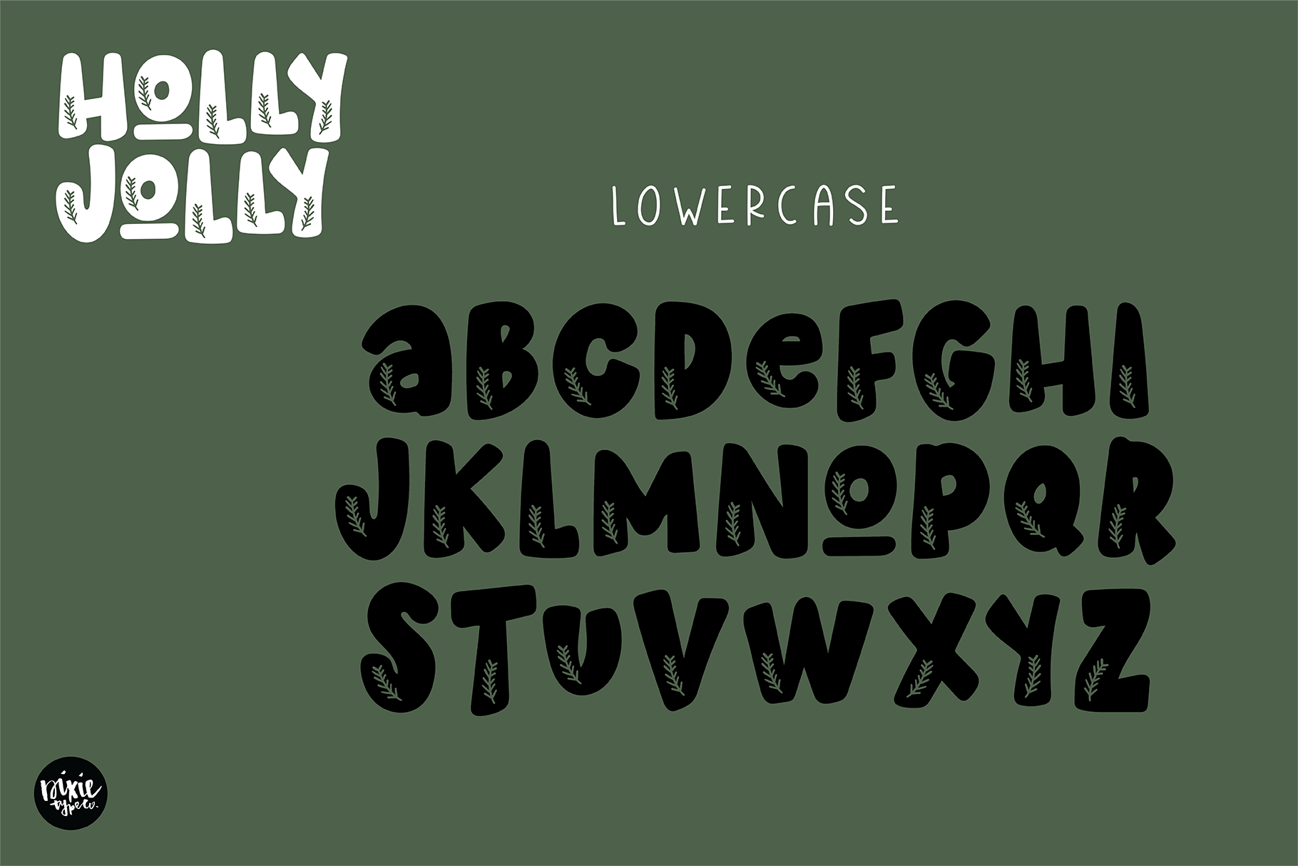 HOLLY JOLLY a Bold Christmas Font example image 2
