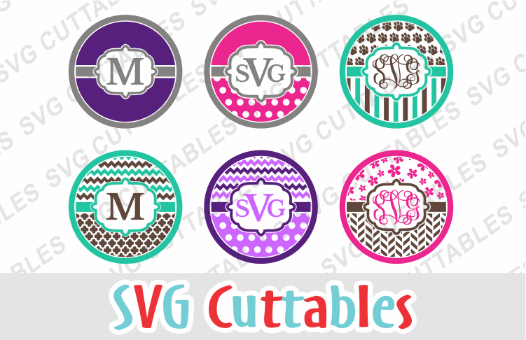 Monogram Frames set of 6 example image 1