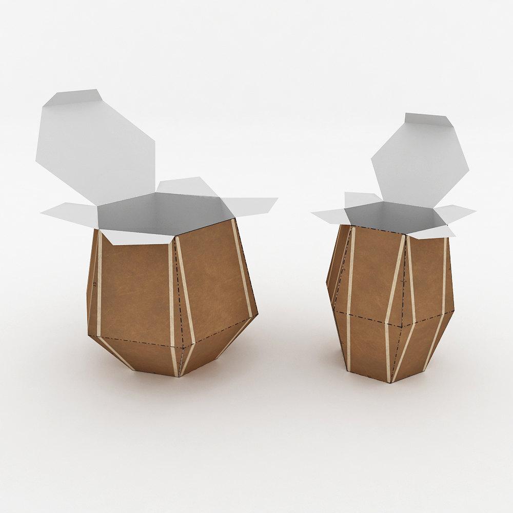 DIY Tabla Favor - 3d papercraft example image 3