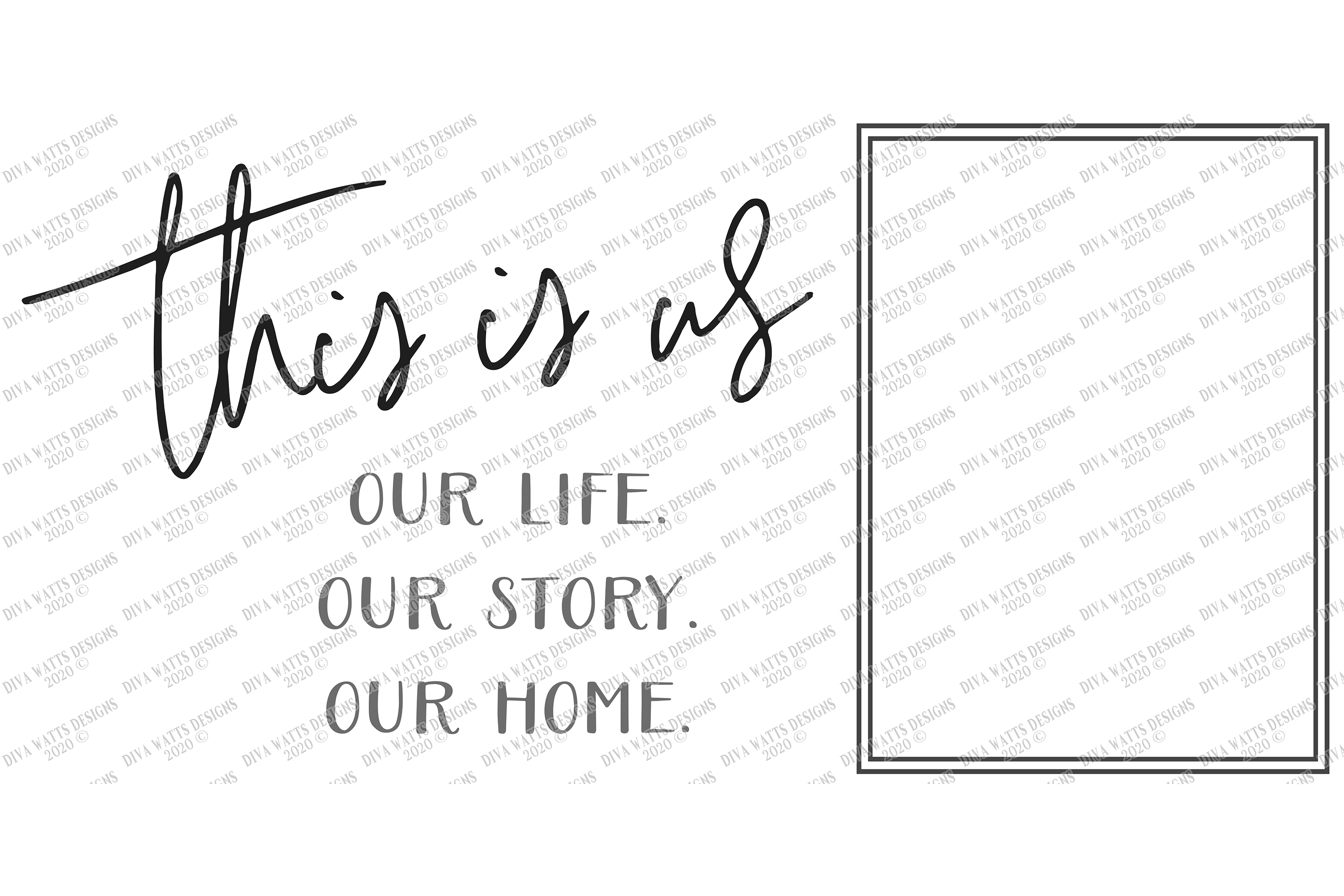 This Is Us - Our Life Our Story Our Home - Customize SVG EPS example image 2