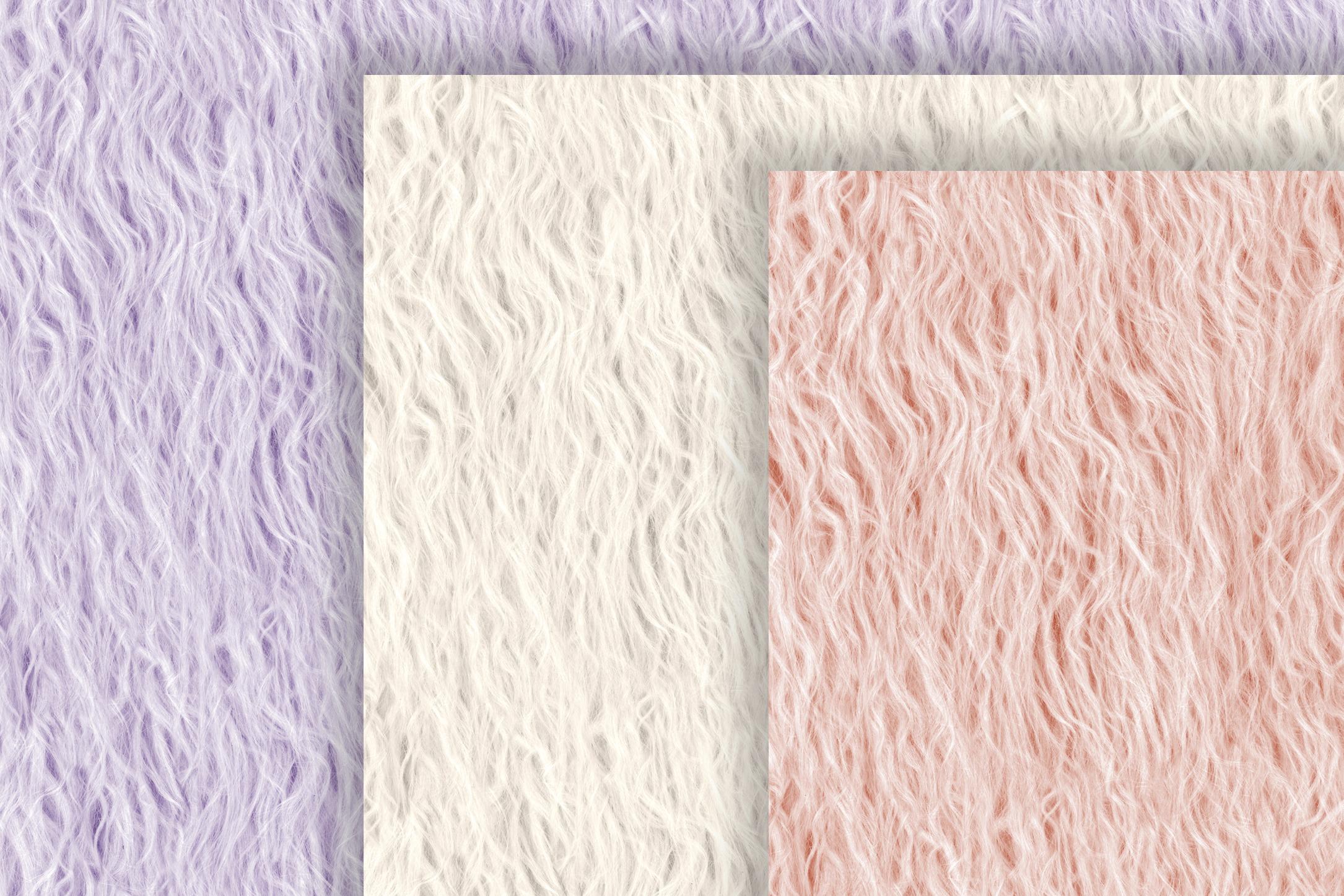 Fur Seamless Backgrounds, Pastel Colors Fur Digital Paper example image 4