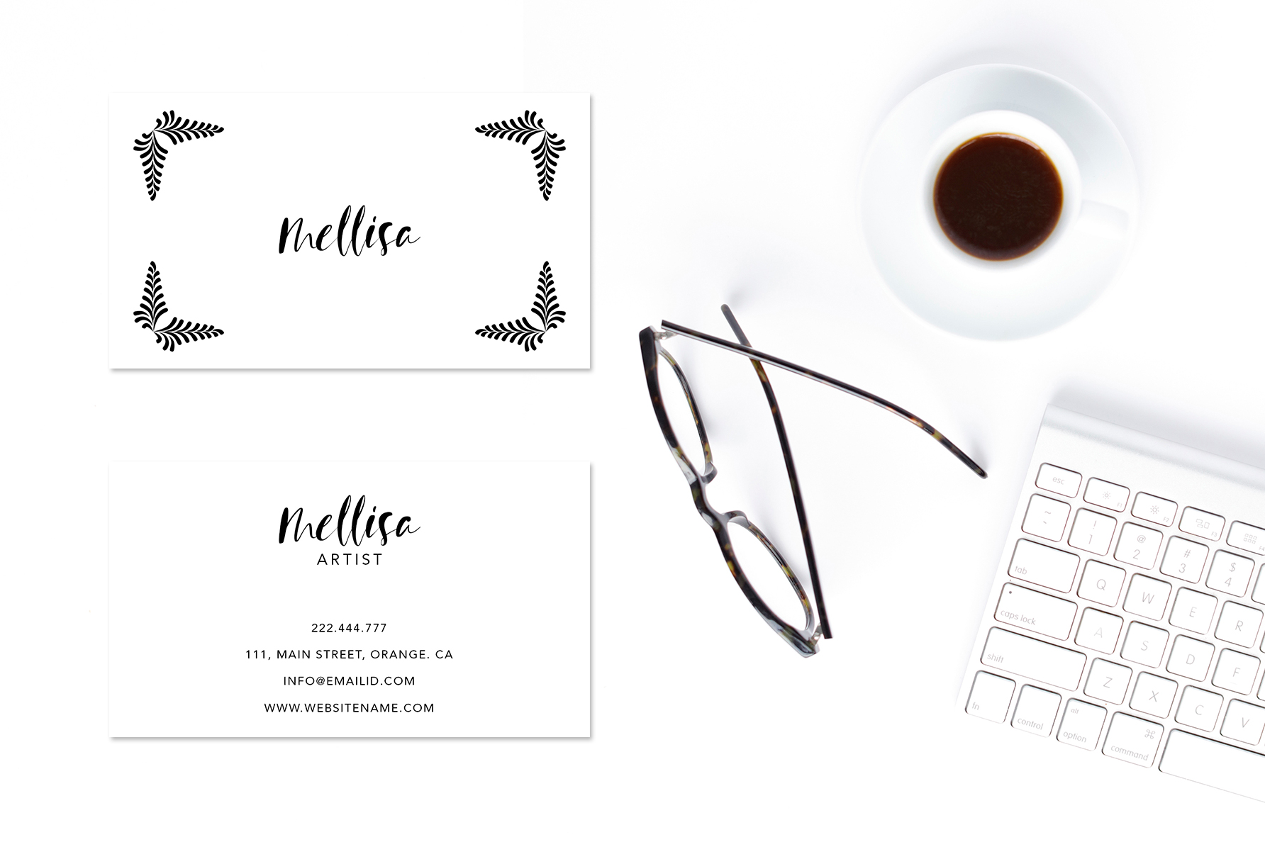 Eye catching art business card example image 2