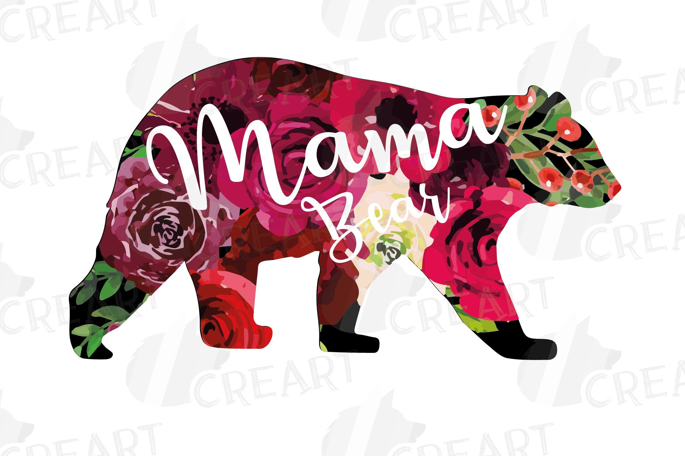 Floral bear family, sister, brother, baby, papa, mama bear example image 20