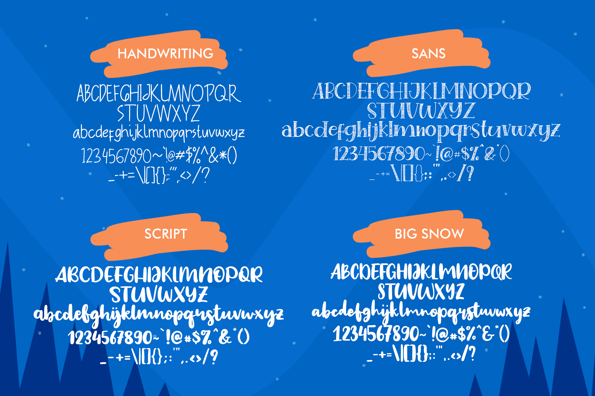 Special Winter 5 Font example image 9