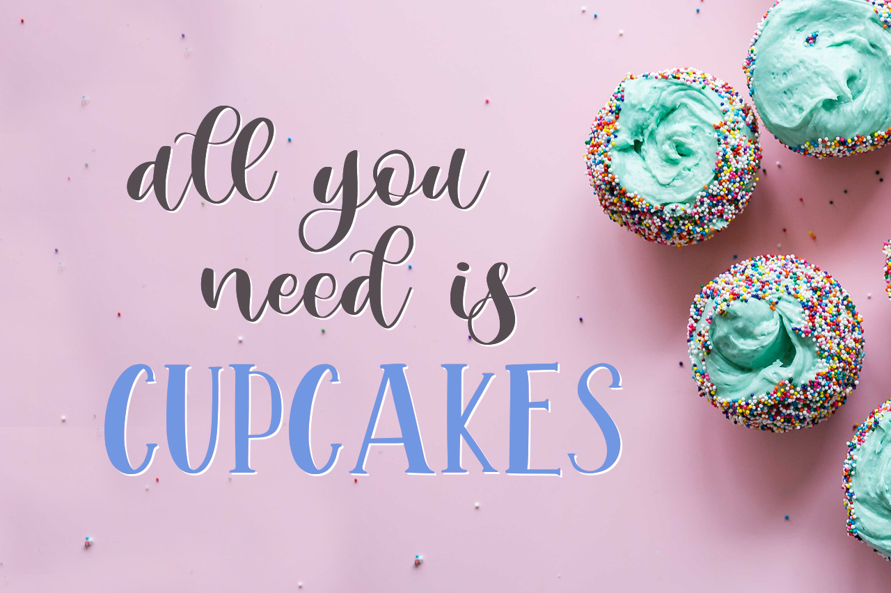 Mint Cupcake Font Duo example image 3