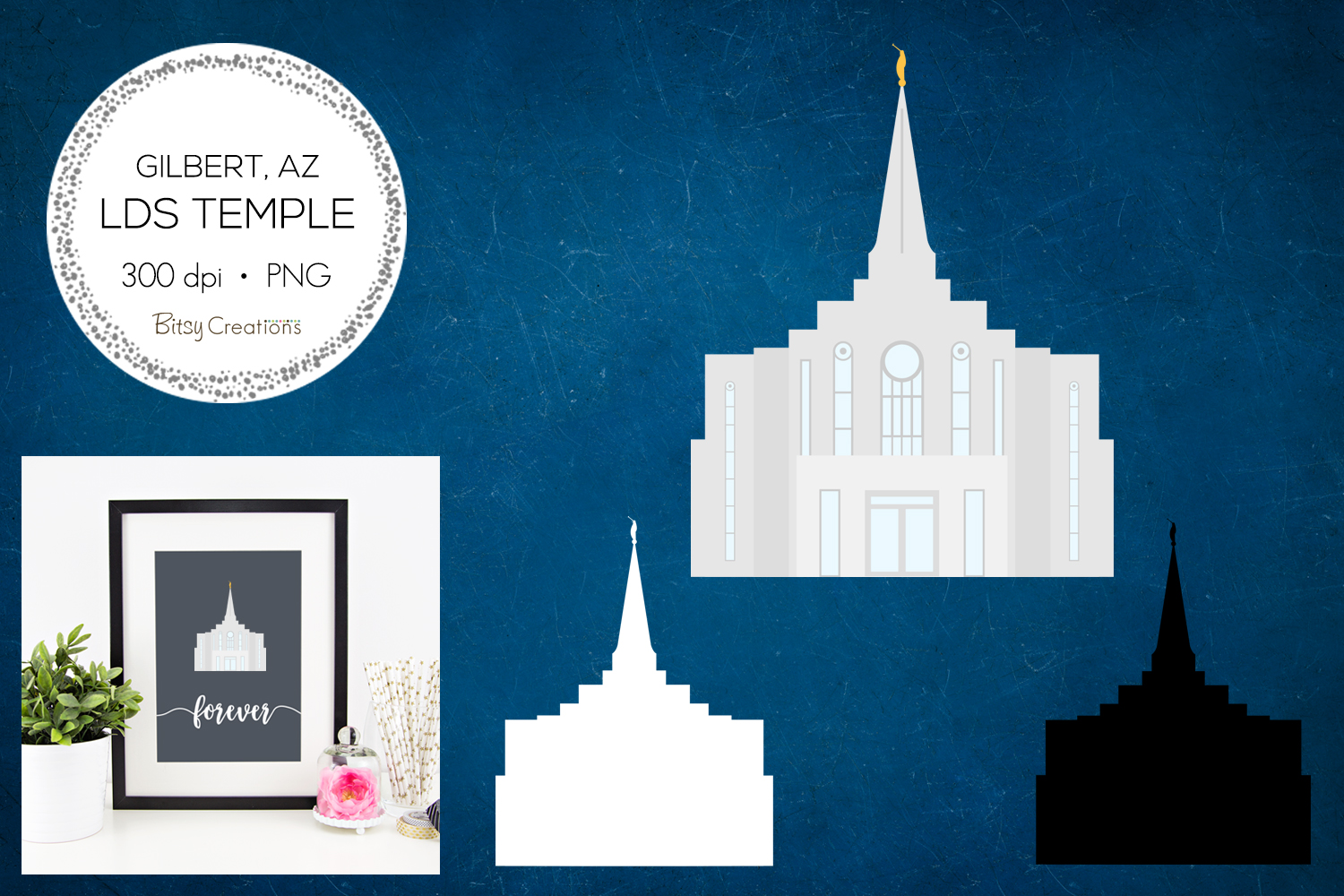 Gilbert Arizona LDS Temple Clipart example image 1