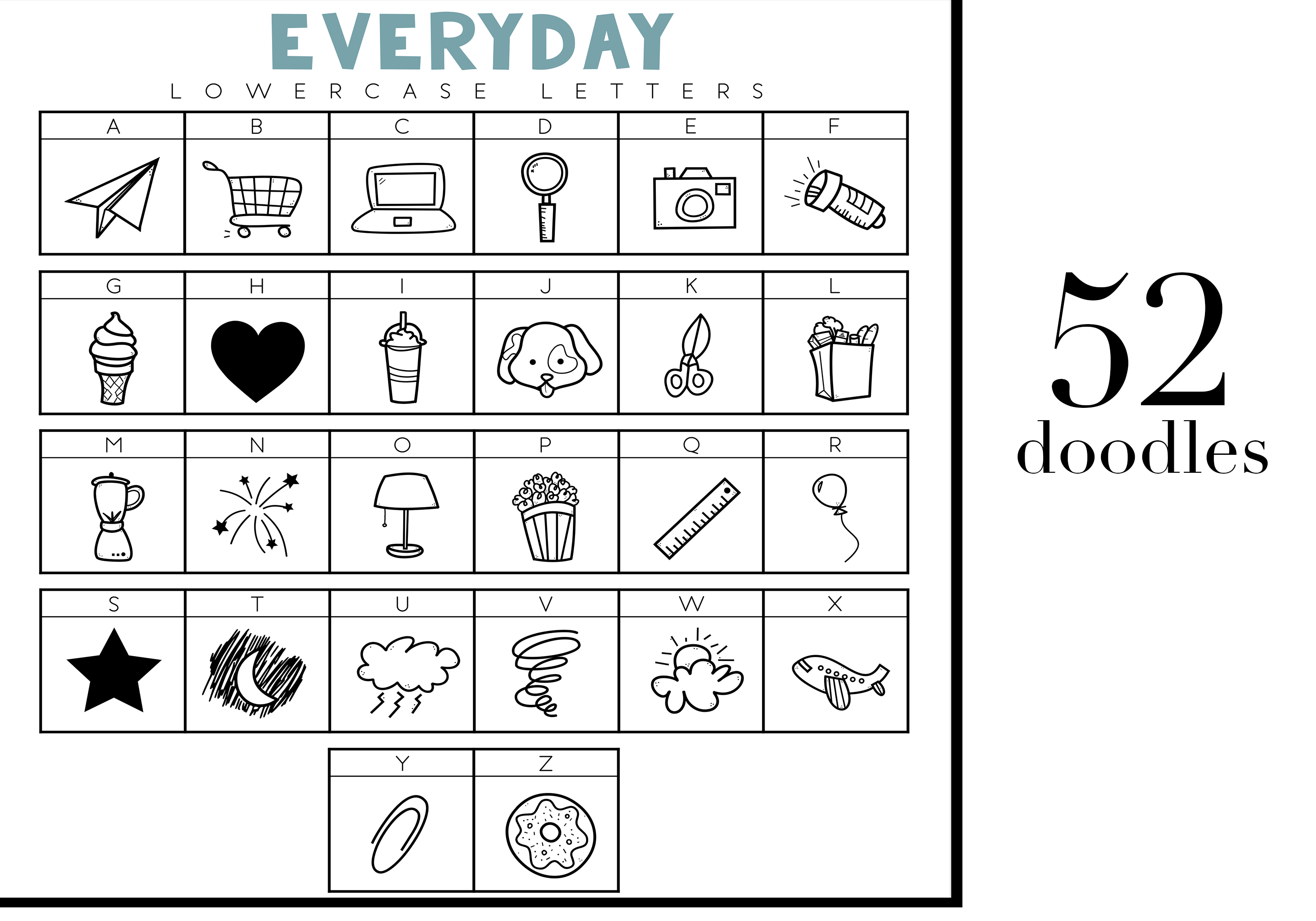 All The Things - A Doodle Font example image 2