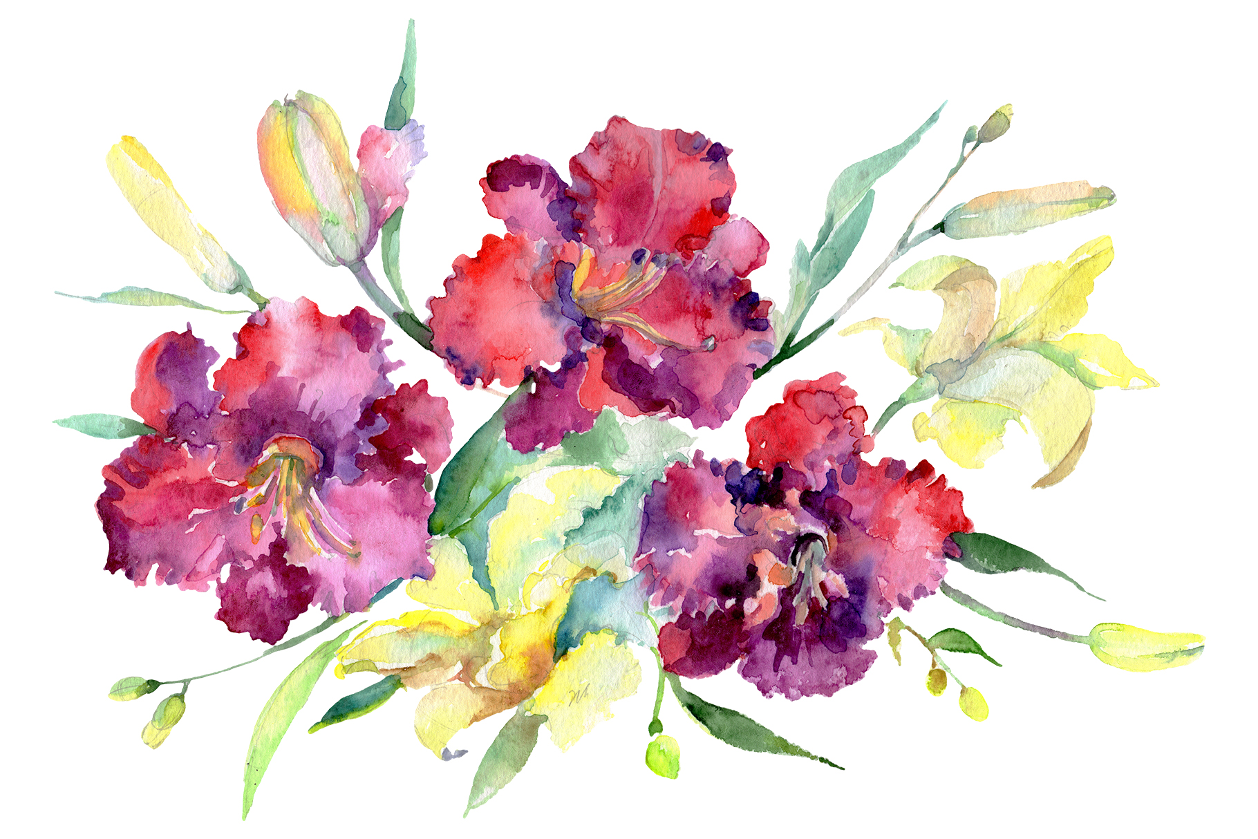 Bouquet Happy Watercolor png example image 2