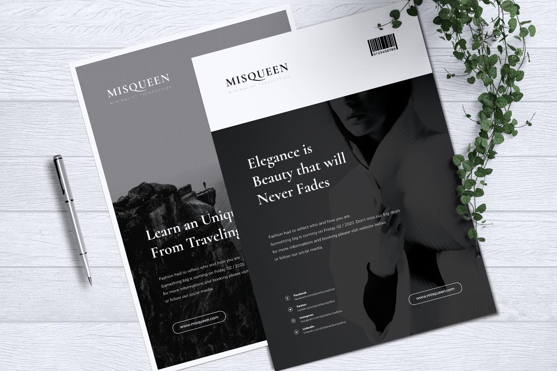 MISQUEEN Minimalist Flyer example image 5